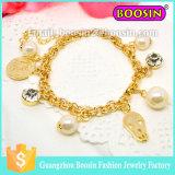De gepersonaliseerde Armband van het Oog Hamsa van de Oneindigheid van Juwelen Gouden Kwade voor Mensen