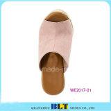 Pantoufles sans chaussures en cuir féminin Espadrilles en cuir féminin