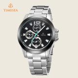 ブランドの人のステンレス鋼の水晶腕時計ビジネス腕時計72225