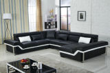 Sofá moderno de Leather Sectional com L sofá Furniture de Shape