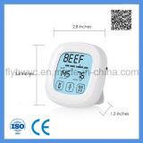 Pantalla táctil digital de la carne del alimento sonda del termómetro de cocina el termómetro del horno asador