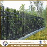 粉は簡単で安い錬鉄のグリルの塀デザインに塗った