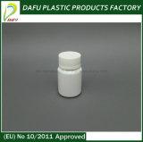 botella plástica del mini HDPE 30ml con el tapón de tuerca