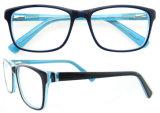 2016 heiße Verkaufs-Dame-optische Rahmen mit doppeltem Farben-Azetat-Rahmen