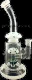 Kleines Glaswasser-Rohr mit Pilz Perc #02 Grün