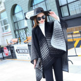 Châle tricoté acrylique de Madame Fashion Houndstooth Pattern Winter grand (YKY4513)