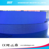 Brightness élevé P16 SMD 3 dans 1 Full Color Outdoor Curved Fixed DEL Screen