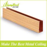 Soffitto falso di alluminio di colore di legno a prova di fuoco