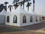 中国Upal 6X6m販売のための白いPVC玄関ひさしの塔のテント