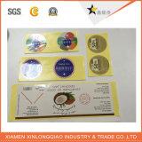 Etiqueta de papel impresa luz del sol impresión de encargo adhesivo impermeable resistente a la etiqueta engomada
