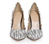 Pattini delle donne dell'alto tallone della banda della zebra di modo (HC 013)