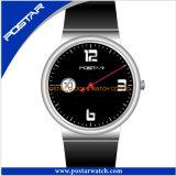 Neue konzipierte Uhr-Sport-Koffer-Uhr mit rundem Vorwahlknopf