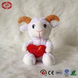 Jouet populaire de la peluche des beaux Valentines de la meilleure fille de cadeau de moutons blancs