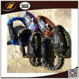 Kundenspezifisches Marken-Zeichen Paracord 550 Überlebens-Armband (HJ-7013)