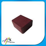 Rectángulo de empaquetado del papel de cuero de la chapa de fábrica reloj de lujo Textured del precio del solo