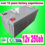 12V 250ah AGM Deep Cycle Solar Battery/UPS Battery