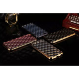 iPhone 5/6s Samsung S4/S5/S6/S6 Edgeのための新しいArrival Rhombus Shape Lambskin Case Eletroplate TPU Case Mobile Phone Case