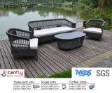Insieme di vimini del sofà del rattan materiale di alluminio della fabbrica dello SGS Approvaled