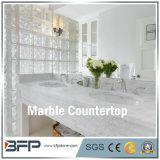 Pietra di marmo naturale per la parte superiore di vanità della stanza da bagno con il bordo facilitato