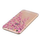 La belleza coloreó la cubierta/las cajas del teléfono móvil de la célula del flor TPU del ciruelo del gráfico para el iPhone