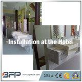 Естественные белые мраморный верхние части тщеты для ванной комнаты в доме/гостинице