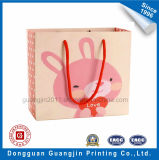 Fantastische rosafarbene Farbe gedruckter Papiergeschenk-Beutel mit Matt-Laminierung