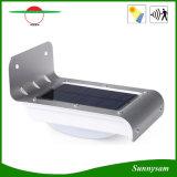 옥외 점화는 16 LED PIR 운동 측정기 빛, 빛 Control+Dim 가벼운 옥외 정원 빛 태양 벽 램프를 방수 처리한다