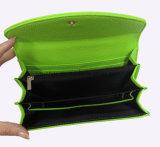Wallet良質の方法女性か携帯電話を保持するLicheeパターンPUの革