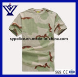T-shirt van de Hals van de Bemanning Camo van Mens de Toevallige Militaire Sneldrogende (sysg-255)