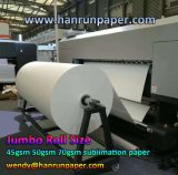 mini papel /300m/500m/1000m/2000m/5000m do Sublimation do rolo 35/45/55/70GSM enorme para a impressora de Reggiani