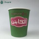 taza de papel de la insignia de encargo 5oz