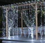 크리스마스 옥외 LED 커튼 고드름 끈 LED 빛