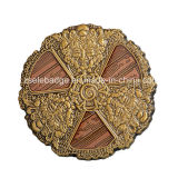 3D antico Medaglia d'oro con morbido smalto per Souvenir (Ele-C058)