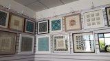 Documento, serie del metallo, specchio della decorazione, decorazione domestica, arte del blocco per grafici
