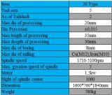 Tipo 15 tipo de alta velocidad vertical de escritorio especificación auto de la herramienta de la cuadrilla del surtidor de 20 China del torno de las levas