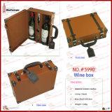 Boîte de cadeau en cuir faite sur commande (5986)