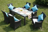 Rattan Outdoor Patio Furniture Set Rattan Sofá com Almofada e Tabela