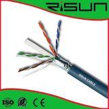 Câble de réseau du solide 4p*2*0.56mm Bc/CCA/CCS de ftp CAT6, câble LAN, Câble de transmission