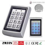 Control de acceso de la puerta del telclado numérico RFID del metal con el lector de tarjetas (ZDAC-7612)