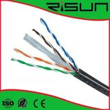 4pair CAT6 Cable 23AWG con UV/Jelly/Fr