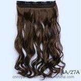 Extensión mezclada del pelo del clip tres de la pinza de pelo del pedazo cinco de la peluca del color del pelo rizado
