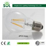 Lampadina del filamento LED di Dimmable della PANNOCCHIA dell'OEM A60/A19 4W 6W 8W E27 con l'UL di RoHS del Ce