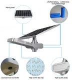 Luz de rua solar Integrated do jardim do diodo emissor de luz com o painel solar ajustável