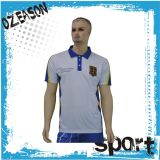 自身の刺繍のロゴのカスタム人の綿のゴルフポロシャツ