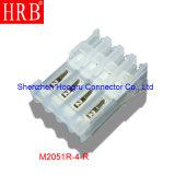 2.54 Paso Natural material de nylon Conector IDC con cubiertas