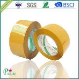 Grande bande adhésive d'emballage de /Tan BOPP de jaune de roulis