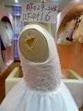 Grânulos e desgaste UF4116 de Flowergirl do vestido da menina do Applique