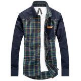 Occasionnels de luxe des hommes d'OEM Outwear des chemises de robe de mode