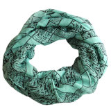 Sciarpa chiffona di infinità del poliestere stampata leopardo di modo delle signore (YKY1113)