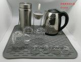 Новая силикона тарелки кухни циновки и пусковой площадки прибытия циновка вспомогательного Drying